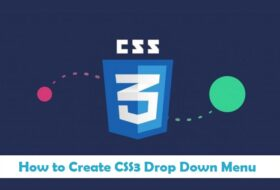 How to Create CSS3 Drop Down Menu in Urdu & Hindi