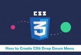 How to Create CSS3 Drop Down Menu in Urdu & Hindi